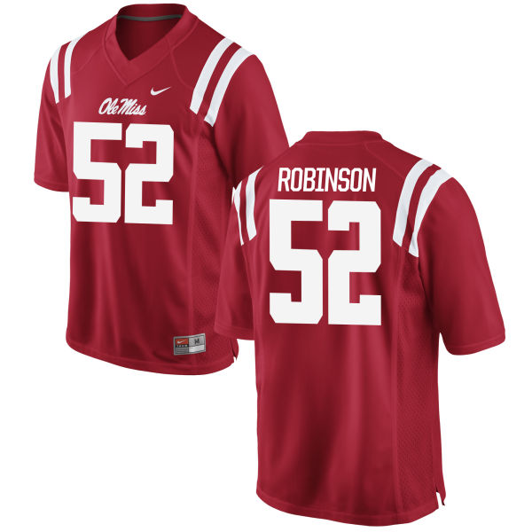 Men's Nike Austrian Robinson Ole Miss Rebels Authentic Red Football Jersey