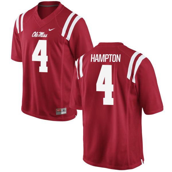Men's Nike C.J. Hampton Ole Miss Rebels Game Red Football Jersey