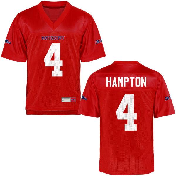 Youth C.J. Hampton Ole Miss Rebels Replica Football Jersey Cardinal