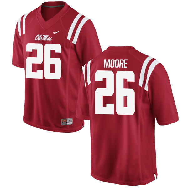 Men's Nike C.J. Moore Ole Miss Rebels Game Red Football Jersey