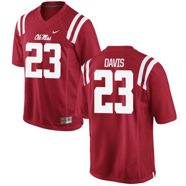 Women's Nike Carlos Davis Ole Miss Rebels Replica Red Football Jersey
