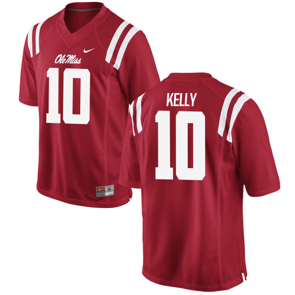 Women's Nike Chad Kelly Ole Miss Rebels Replica Red Football Jersey