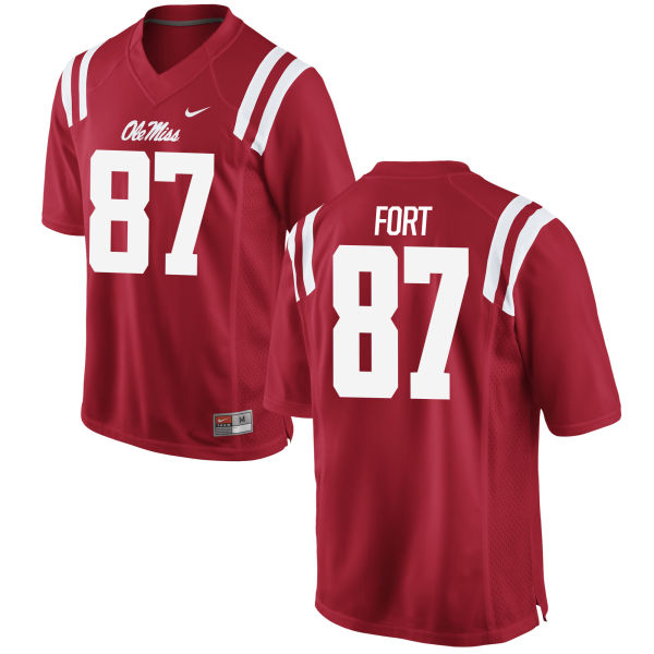 Men's Nike D.J. Forte Ole Miss Rebels Game Red Football Jersey