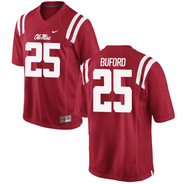Women's Nike D.K. Buford Ole Miss Rebels Replica Red Football Jersey