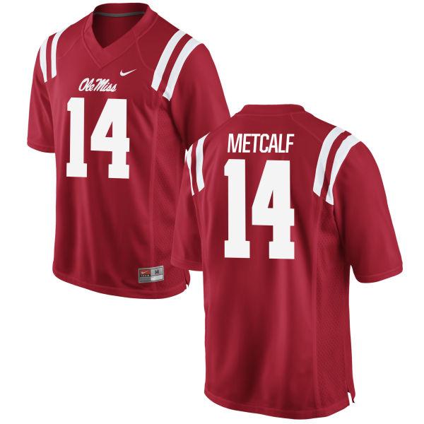 Men's Nike D.K. Metcalf Ole Miss Rebels Replica Red Football Jersey