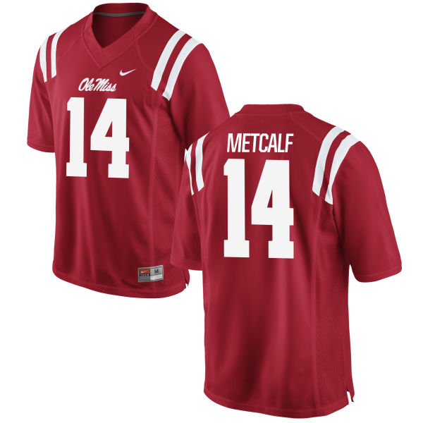 Men's Nike D.K. Metcalf Ole Miss Rebels Authentic Red Football Jersey