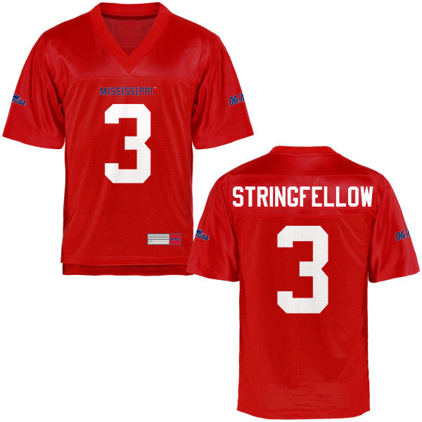 Youth Damore'ea Stringfellow Ole Miss Rebels Game Football Jersey Cardinal