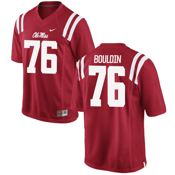 Youth Nike Daronte Bouldin Ole Miss Rebels Game Red Football Jersey