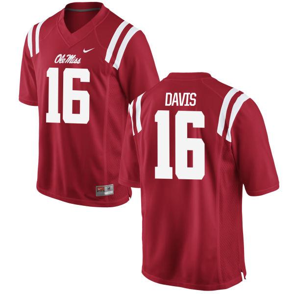 Women's Nike Drew Davis Ole Miss Rebels Replica Red Football Jersey