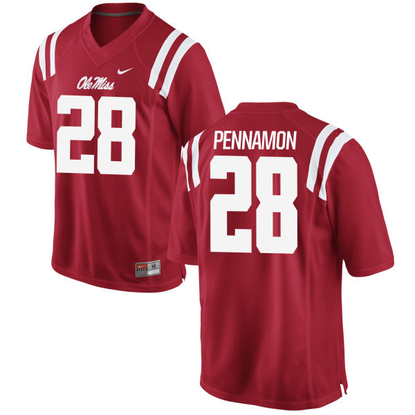 Men's Nike D'Vaughn Pennamon Ole Miss Rebels Game Red Football Jersey