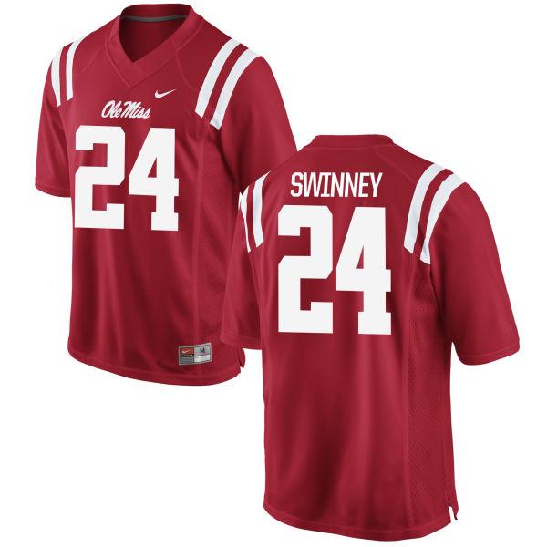 Women's Nike Eric Swinney Ole Miss Rebels Game Red Football Jersey