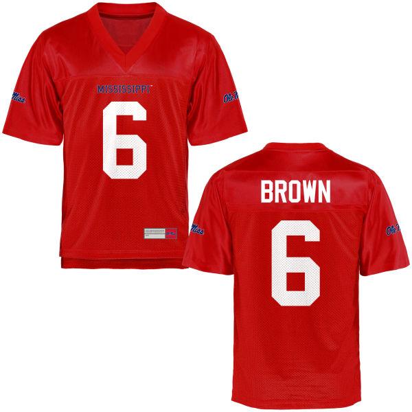 Men's Fadol Brown Ole Miss Rebels Game Brown Football Jersey Cardinal