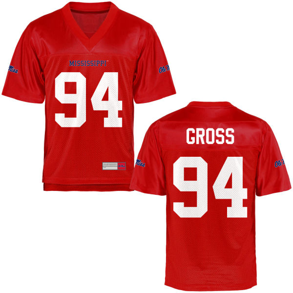 Youth Issac Gross Ole Miss Rebels Game Football Jersey Cardinal
