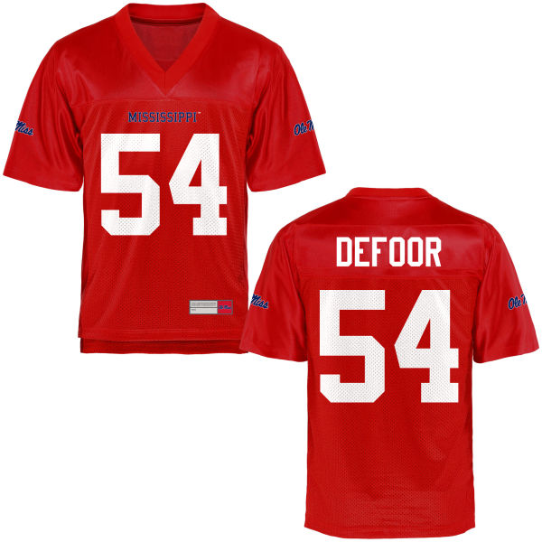 Youth Jack DeFoor Ole Miss Rebels Game Football Jersey Cardinal