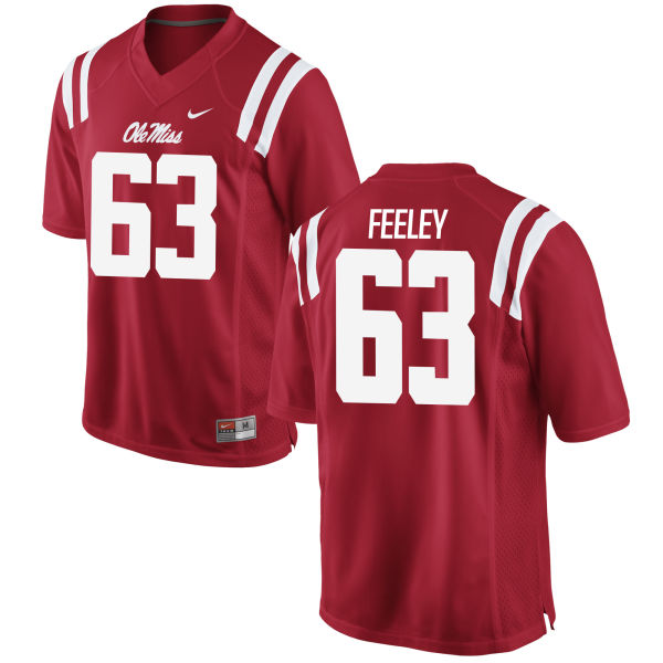 Men's Nike Jacob Feeley Ole Miss Rebels Authentic Red Football Jersey