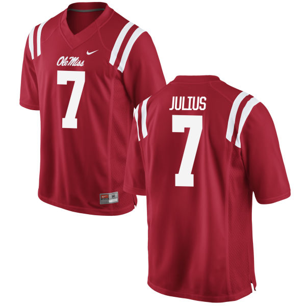 Men's Nike Jalen Julius Ole Miss Rebels Authentic Red Football Jersey