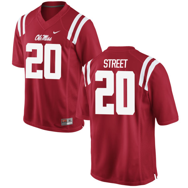 Men's Nike Jarrion Street Ole Miss Rebels Game Red Football Jersey