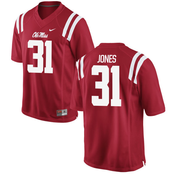 Men's Nike Jaylon Jones Ole Miss Rebels Limited Red Football Jersey