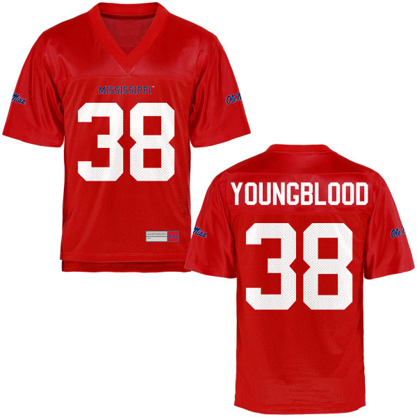 Youth John Youngblood Ole Miss Rebels Game Football Jersey Cardinal