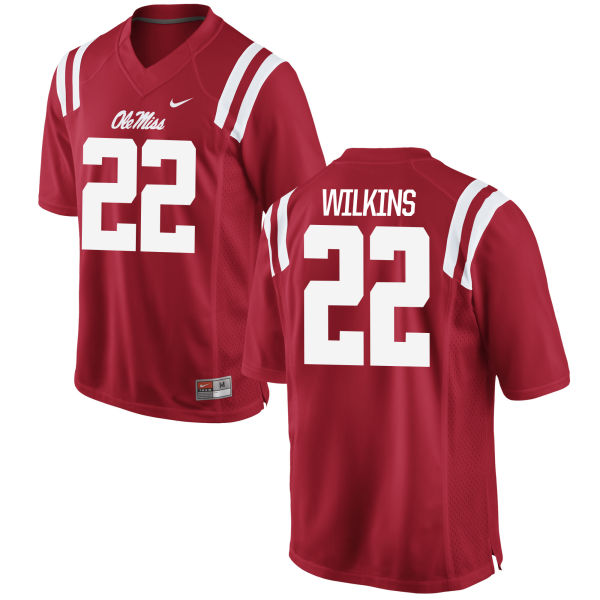 Men's Nike Jordan Wilkins Ole Miss Rebels Replica Red Football Jersey