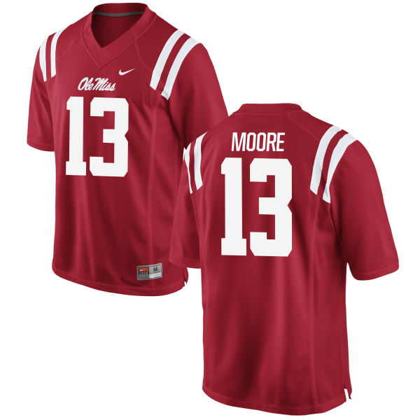 Youth Nike Kailo Moore Ole Miss Rebels Game Red Football Jersey