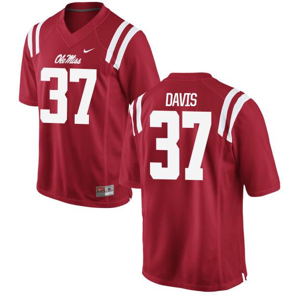 Youth Nike Luke Davis Ole Miss Rebels Limited Red Football Jersey