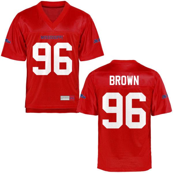 Men's Mac Brown Ole Miss Rebels Game Brown Football Jersey Cardinal