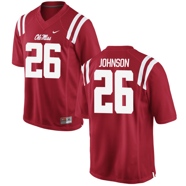 Men's Nike Martin Johnson Ole Miss Rebels Authentic Red Football Jersey