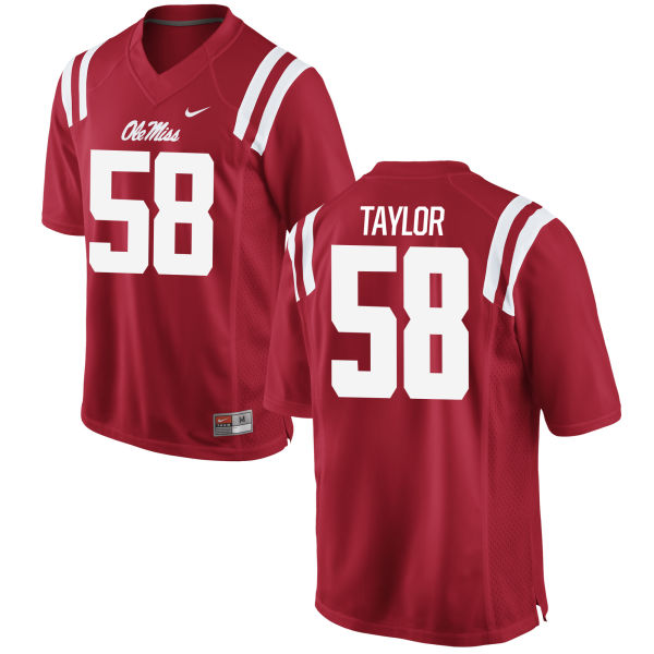 Men's Nike Mike Taylor Ole Miss Rebels Game Red Football Jersey