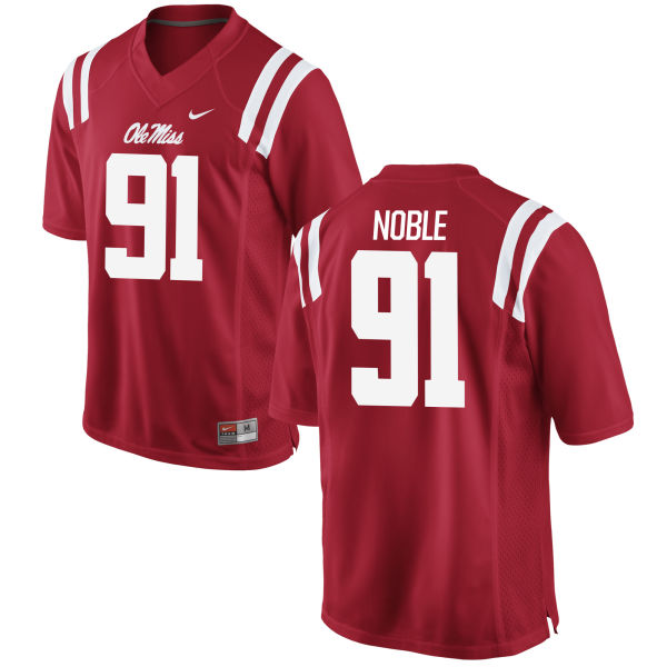Men's Nike Nathan Noble Ole Miss Rebels Game Red Football Jersey