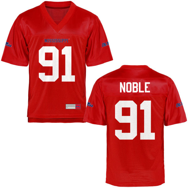 Youth Nathan Noble Ole Miss Rebels Authentic Football Jersey Cardinal