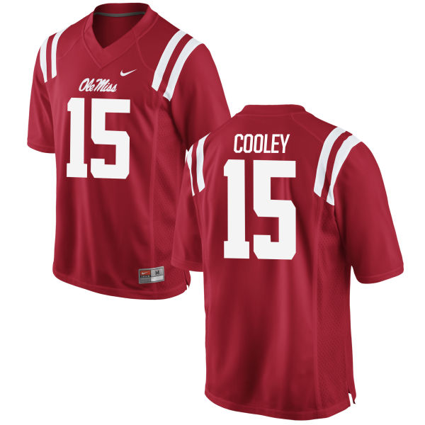 Men's Nike Octavious Cooley Ole Miss Rebels Replica Red Football Jersey