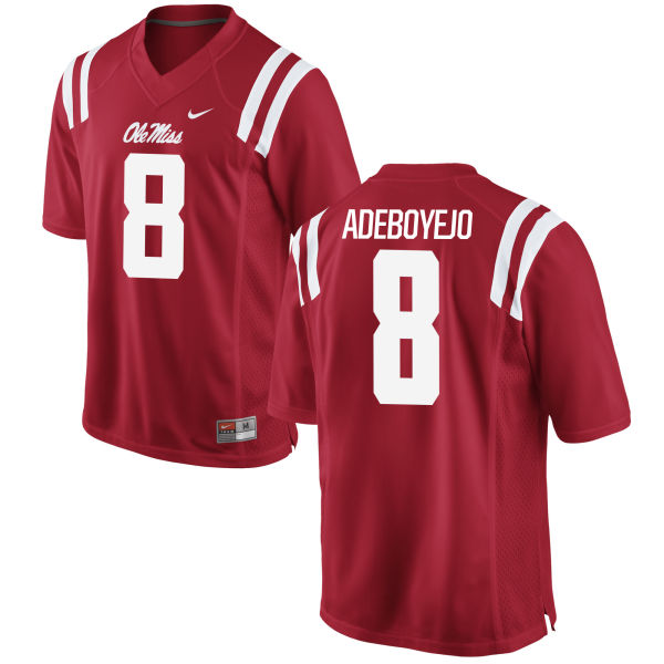 Men's Nike Quincy Adeboyejo Ole Miss Rebels Authentic Red Football Jersey