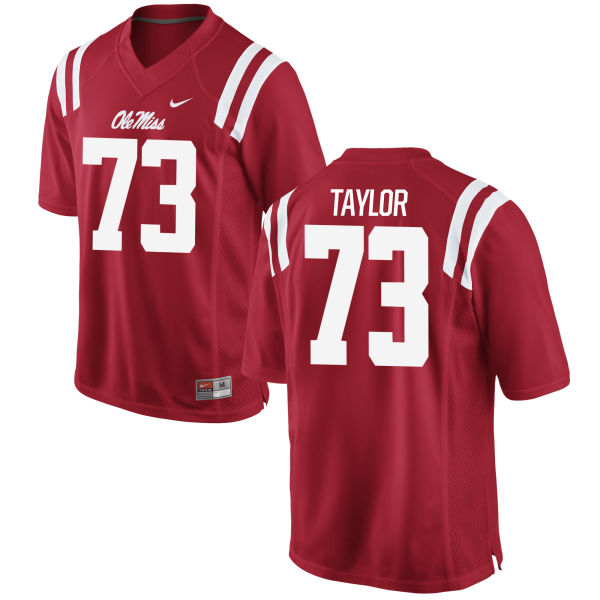 Men's Nike Rod Taylor Ole Miss Rebels Game Red Football Jersey