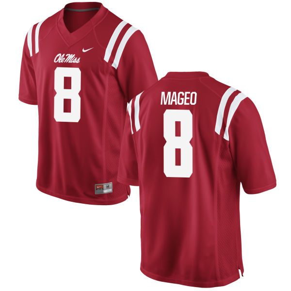 Men's Nike Rommel Mageo Ole Miss Rebels Authentic Red Football Jersey