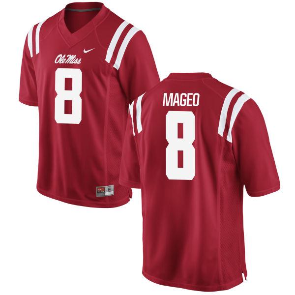 Men's Nike Rommel Mageo Ole Miss Rebels Game Red Football Jersey