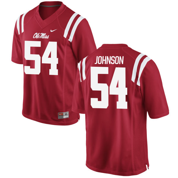 Men's Nike Sam Johnson Ole Miss Rebels Game Red Football Jersey