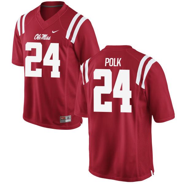 Men's Nike Tayler Polk Ole Miss Rebels Game Red Football Jersey