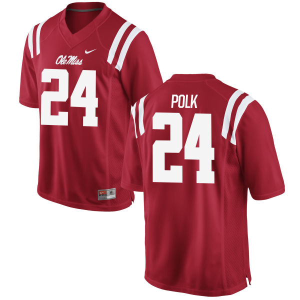 Youth Nike Tayler Polk Ole Miss Rebels Game Red Football Jersey