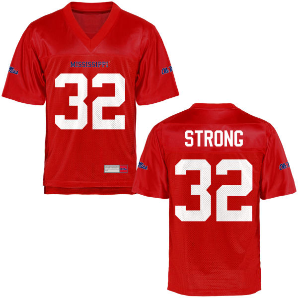 Youth Temario Strong Ole Miss Rebels Game Football Jersey Cardinal