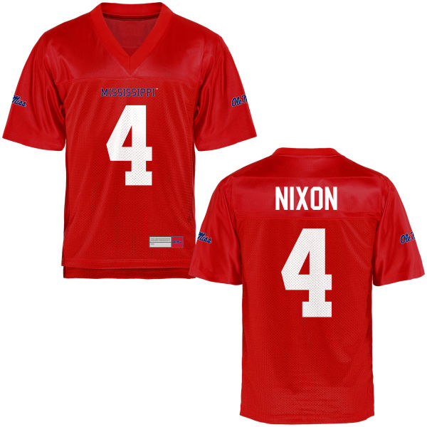 Youth Tre Nixon Ole Miss Rebels Game Football Jersey Cardinal