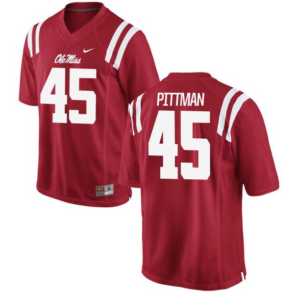 Men's Nike Tyler Pittman Ole Miss Rebels Replica Red Football Jersey