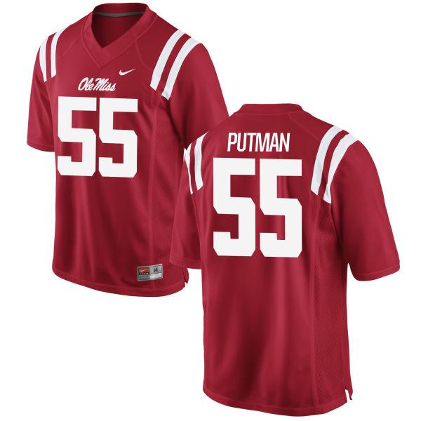 Men's Nike Tyler Putman Ole Miss Rebels Replica Red Football Jersey