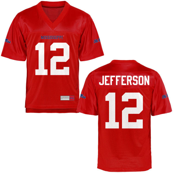 Youth Van Jefferson Ole Miss Rebels Game Football Jersey Cardinal