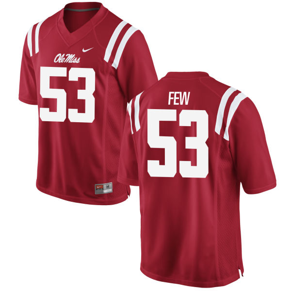 Men's Nike Will Few Ole Miss Rebels Game Red Football Jersey
