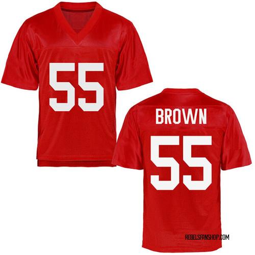Men's Ben Brown Ole Miss Rebels Game Brown Cardinal Football College Jersey