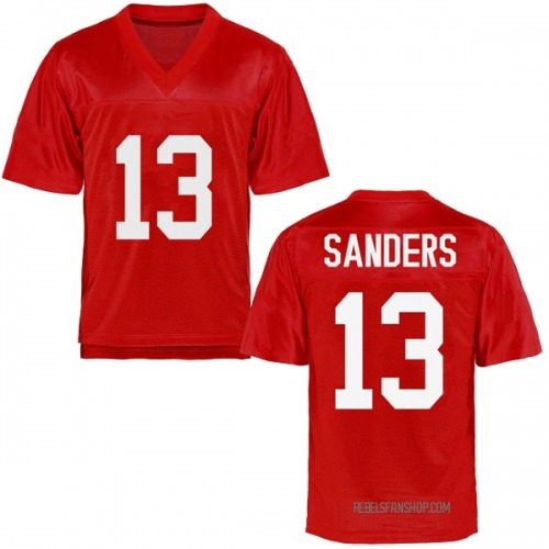 Men's Braylon Sanders Ole Miss Rebels Replica Cardinal Football College Jersey