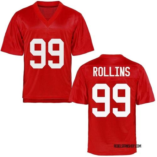 Men's Desanto Rollins Ole Miss Rebels Replica Cardinal Football College Jersey