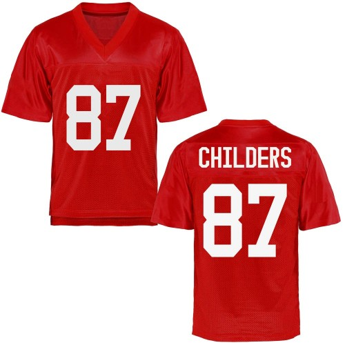 Men's Garrett Childers Ole Miss Rebels Replica Cardinal Football College Jersey