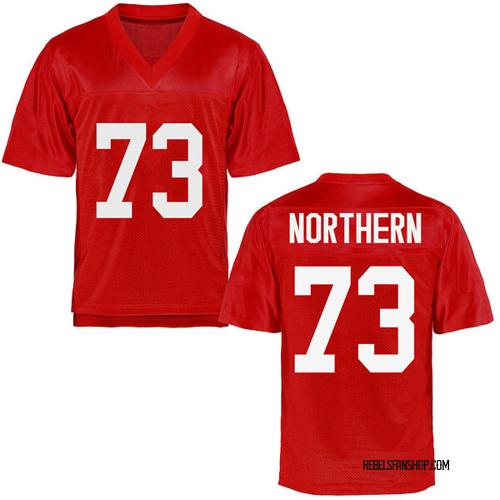 Men's Hal Northern Ole Miss Rebels Replica Cardinal Football College Jersey